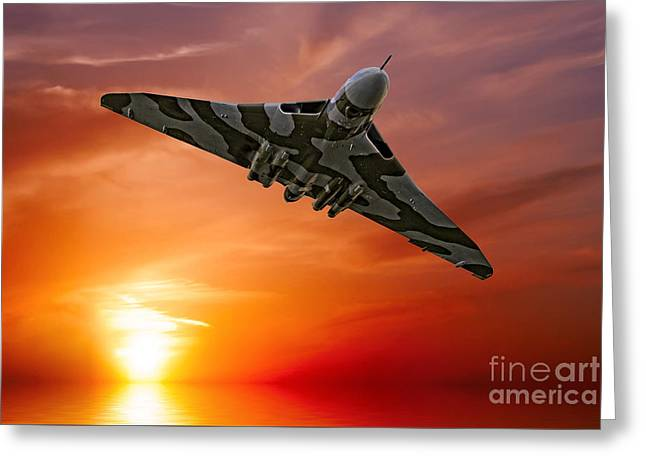 Sunset Vulcan Greeting Card by Stephen Smith