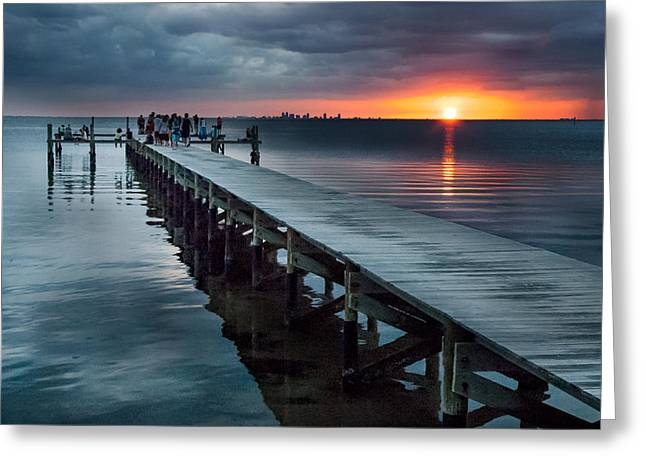 Ocean Art Photos Greeting Cards - Sunset Watch Greeting Card by Norman Johnson