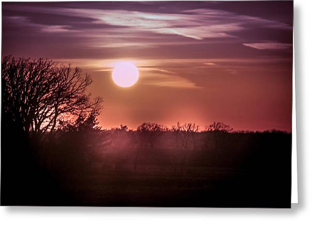 Sunset With Beautiful Sky Greeting Card by Art Spectrum