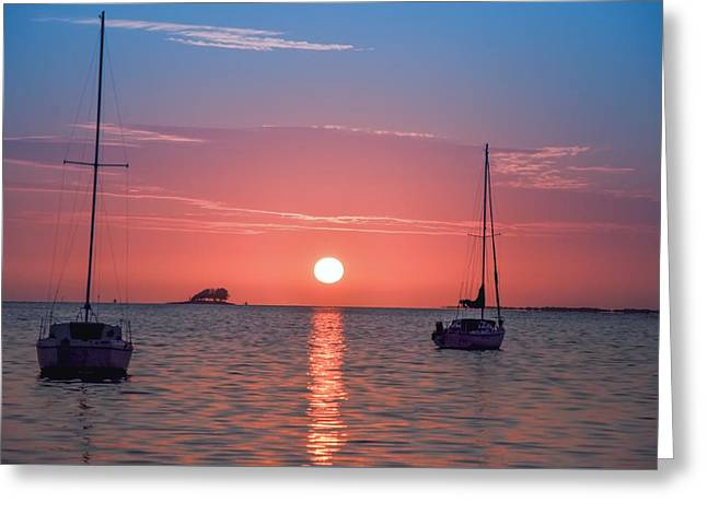 Greeting Cards - Sunsets are the Best in Florida Greeting Card by Bill Cannon