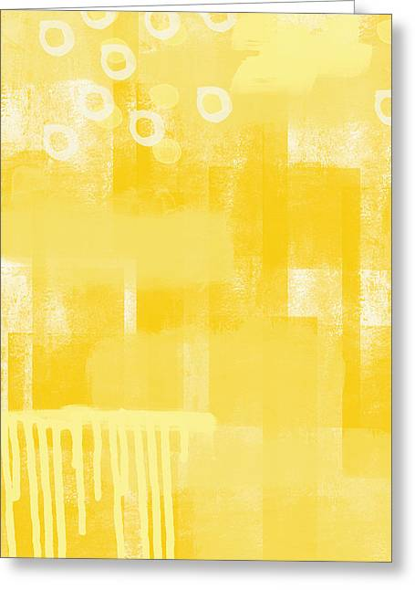 Warm Greeting Cards - Sunshine- abstract art Greeting Card by Linda Woods