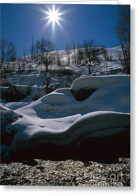 Sunshine, Alborz Mountains Greeting Card by Babak Tafreshi