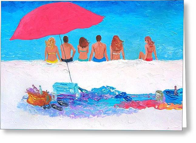 Beach Cottage Style Greeting Cards - Sunshine and Summertime Greeting Card by Jan Matson