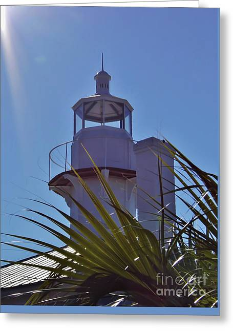 Cedar Key Greeting Cards - Sunshine At The Lighthouse Greeting Card by D Hackett