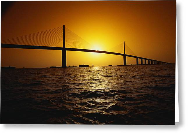 Sunshine Bridge St Petersburg Fl Greeting Card by Panoramic Images