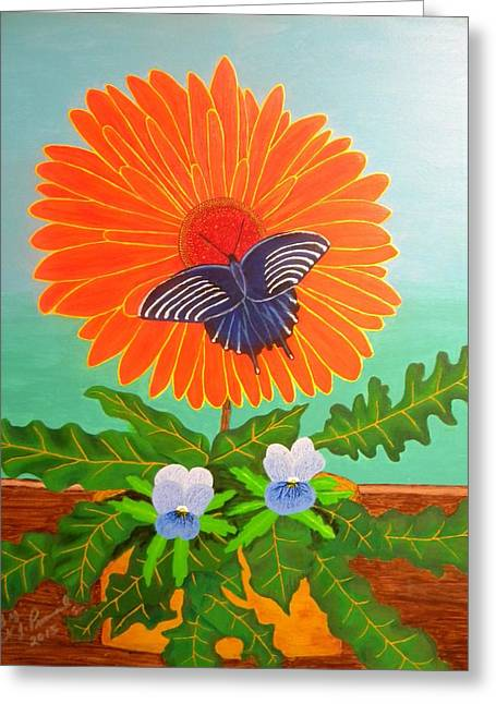 Sunshine Butterfly Greeting Card by Robert Provencial