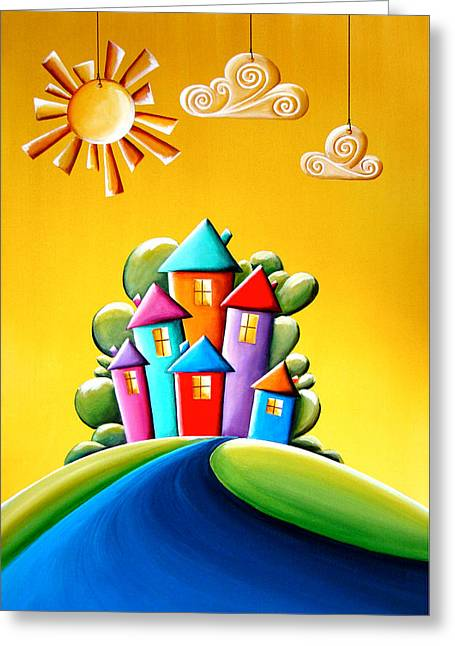 Neighborhoods Greeting Cards - Sunshine Day Greeting Card by Cindy Thornton