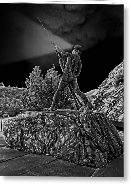 Rock Hammer Greeting Cards - SUNSHINE MINE DISASTER MEMORIAL -  Idaho State Greeting Card by Daniel Hagerman