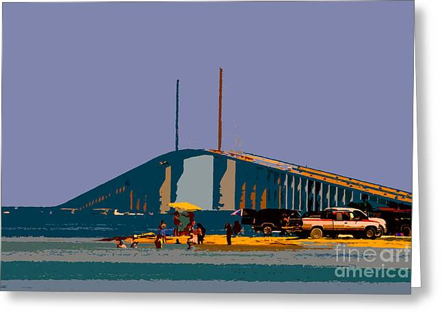 Sunshine Skyway Greeting Card by David Lee Thompson