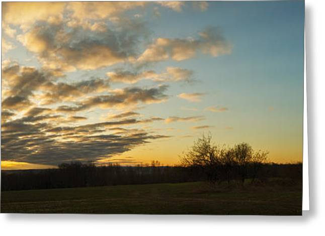 Tin Roof Greeting Cards - Sunup on the farm Greeting Card by Chris Bordeleau
