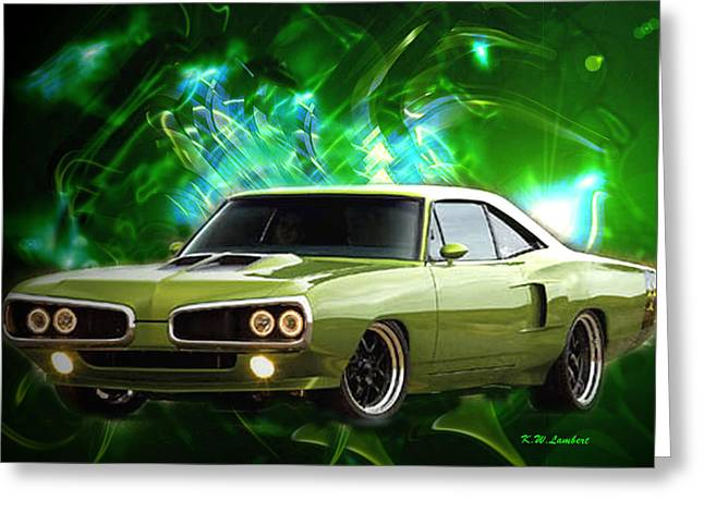 Super Bee Greeting Card by Kenneth Lambert