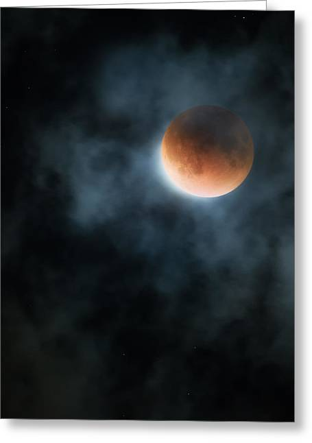 Super Blood Moon 2015 Greeting Card by Bill Wakeley