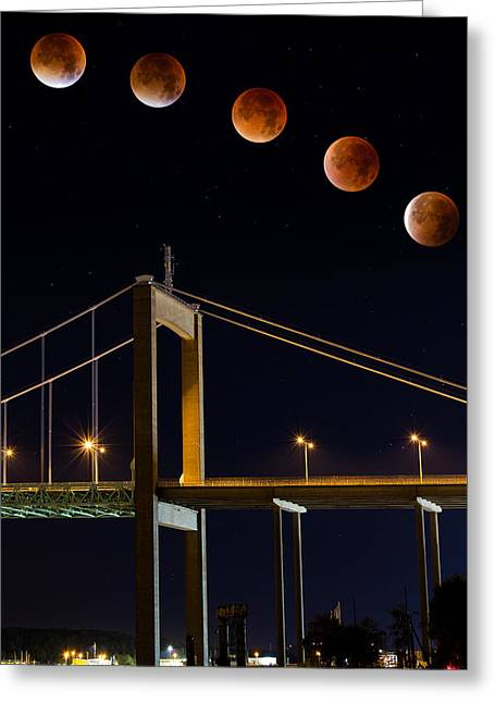Super Blood Moon Greeting Card by Arvid Bjorkqvist