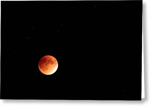 Super Blood Moon Greeting Card by Bruce J Robinson