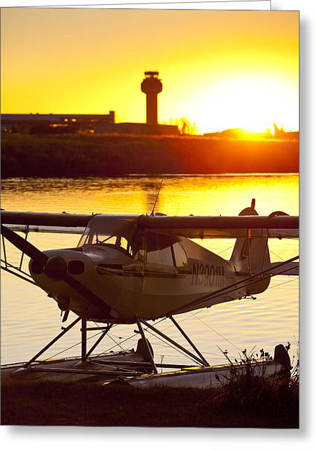 Best Sellers -  - Traffic Control Greeting Cards - Super Cub at the End of the Day Greeting Card by Tim Grams