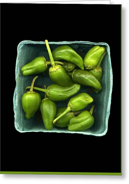 Harvest Art Greeting Cards - Super Hot Peppers Greeting Card by Myrna Suarez