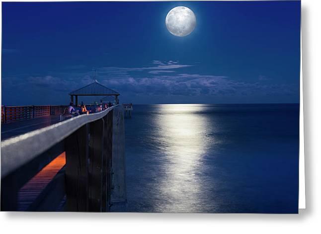 Super Moon At Juno Greeting Card by Laura Fasulo