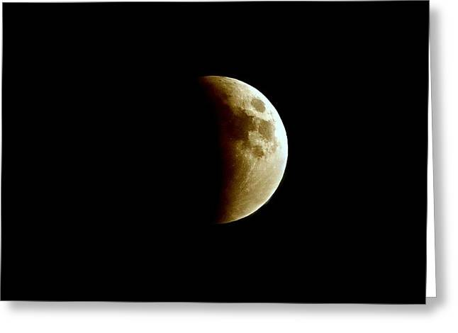 Super Moon Eclipse 2015 Greeting Card by Diana Angstadt