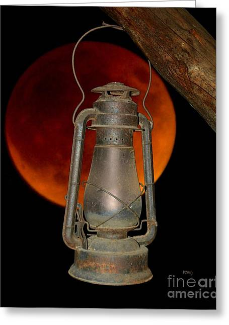 Purchase Greeting Cards - Eerie Light of an Eclipsed Super-Moon Greeting Card by Patrick Witz