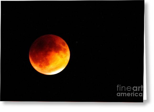 Super Moon Eclipse  Greeting Card by Robert Bales