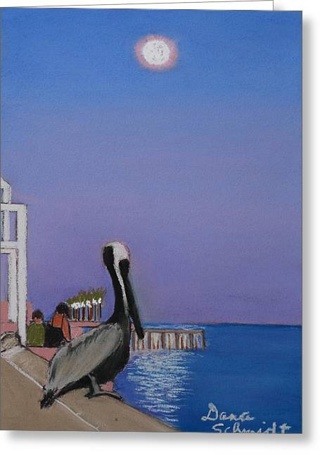 St Petersburg Florida Pastels Greeting Cards - Super Moon Over St. Pete Greeting Card by Dana Schmidt