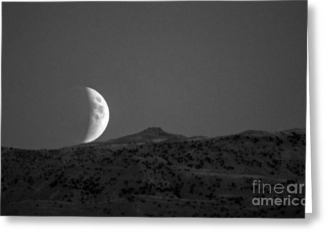 Super Moon Rise Eclipse Greeting Card by Robert Bales