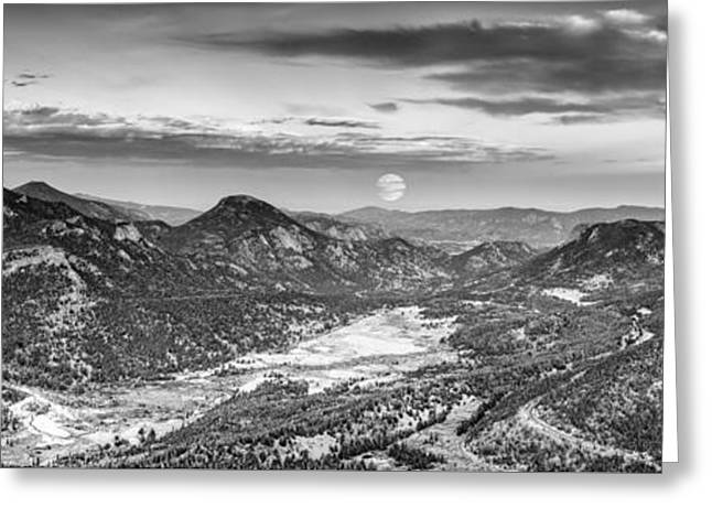 Super Moon Rising From Rainbow Curve Overlook - Trail Ridge Road Rocky Mountain National Park  Greeting Card by Silvio Ligutti