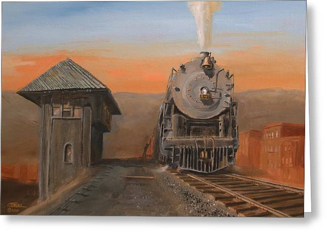 Alco Locomotives Greeting Cards - Super Power at Scranton Greeting Card by Christopher Jenkins