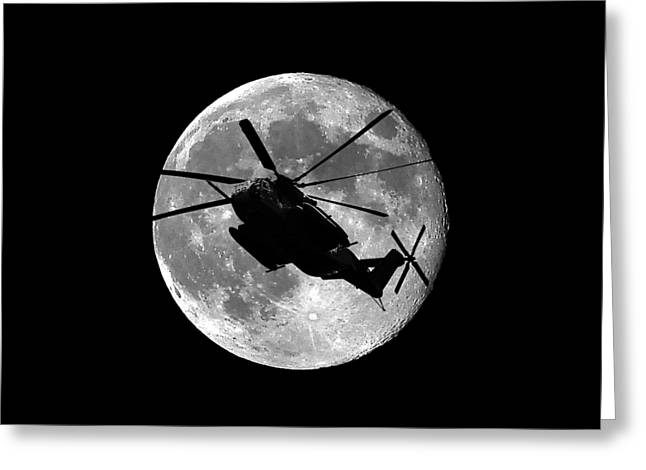 Helo Greeting Cards - Super Stallion Silhouette .png Greeting Card by Al Powell Photography USA