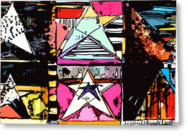 Super Stars Greeting Cards - Super Star Greeting Card by Mindy Newman