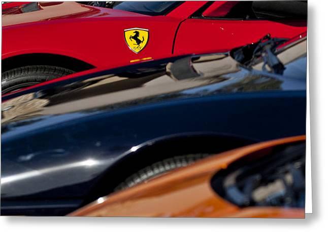 Supercars Ferrari Emblem Greeting Card by Jill Reger