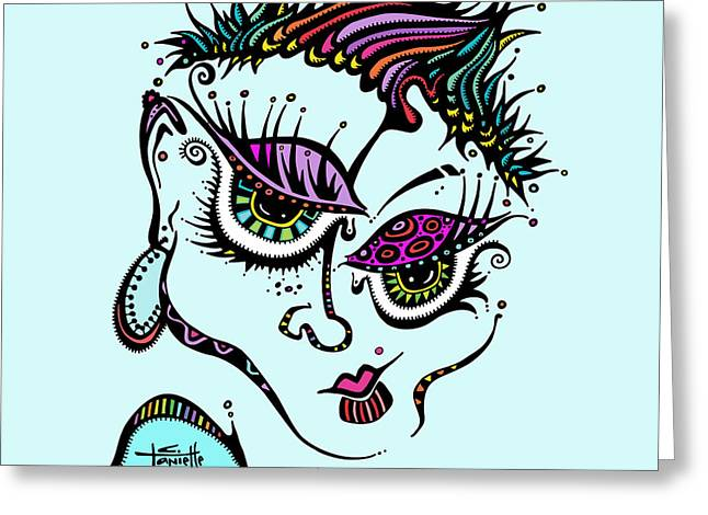 Woman Of Color Greeting Cards - Superfly Greeting Card by Tanielle Childers