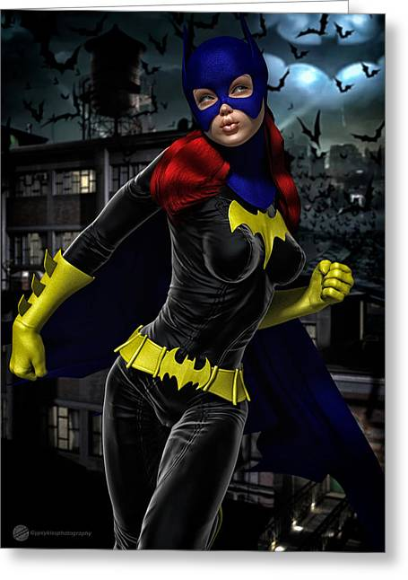 Superwoman Greeting Cards - Superheroine 5 Greeting Card by Todd and candice Dailey