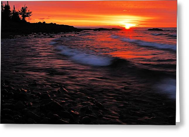 Superior Sunrise 2 Greeting Card by Larry Ricker