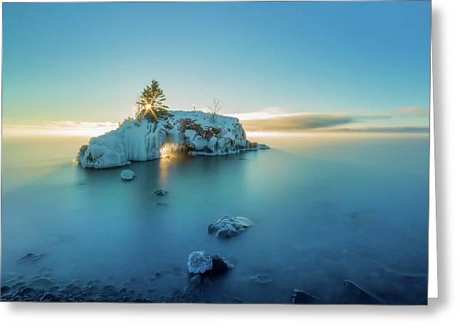Superior Sunrise // North Shore, Lake Superior  Greeting Card by Nicholas Parker