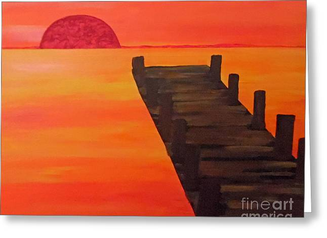 Bedroom Art Greeting Cards - Superior Sunsets Greeting Card by Jilian Cramb
