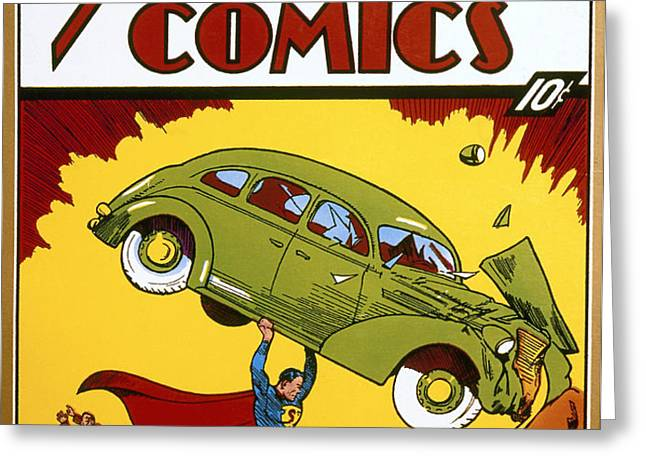 SUPERMAN COMIC BOOK, 1938 Greeting Card by Granger