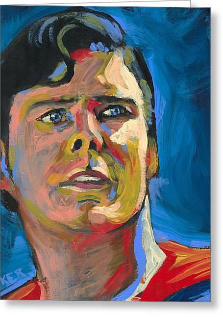 Superman Greeting Card by Buffalo Bonker