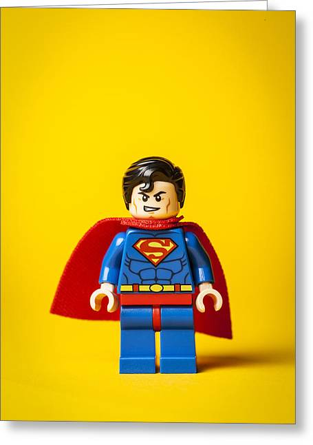 Recently Sold -  - Lego Greeting Cards - Superman - Man of Steel Greeting Card by Samuel Whitton