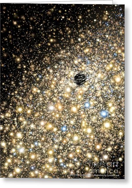 Observatories Greeting Cards - Supermassive Black Hole Greeting Card by Lynette Cook
