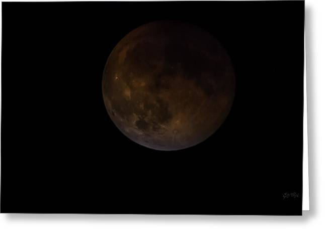 Constellations Greeting Cards - Supermoon Full Lunar Eclipse 27 September 2015 Greeting Card by Eti Reid