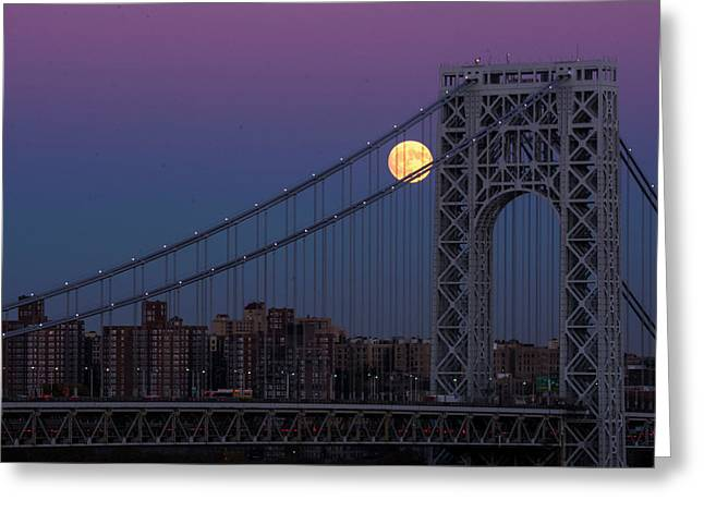 Supermoon Greeting Card by Mary D'Urso