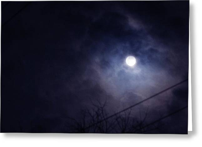 March Moon Greeting Cards - Supermoon  Greeting Card by Toni Hopper