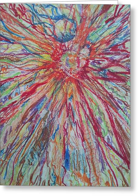 Stellar Drawings Greeting Cards - Supernova Apocalypse Greeting Card by William Douglas