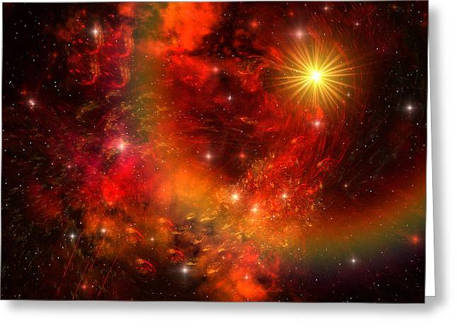 Portal Digital Greeting Cards - Supernova Greeting Card by Corey Ford