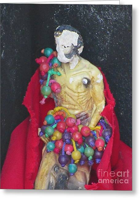 Santeria Saint Greeting Cards - Superstition Greeting Card by John Malone