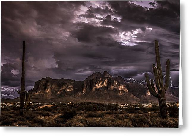 Superstition Storm Greeting Card by Chuck Brown