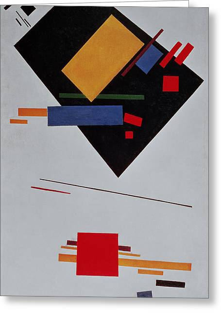 Malevich Greeting Cards - Suprematist Composition Greeting Card by  Kazimir Malevich