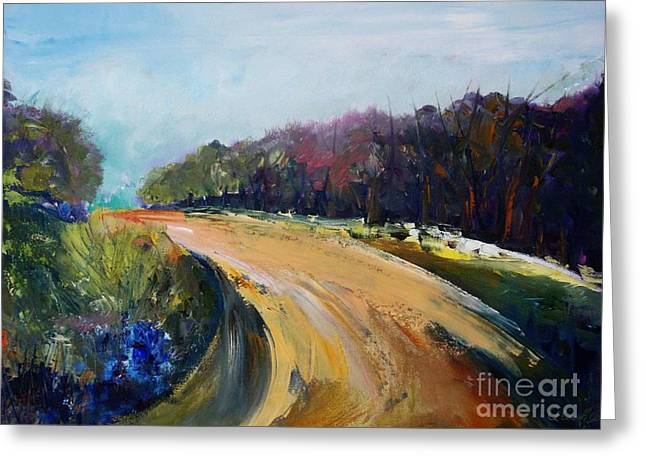 Roadway Greeting Cards - Sur la route Greeting Card by Aline Halle-Gilbert