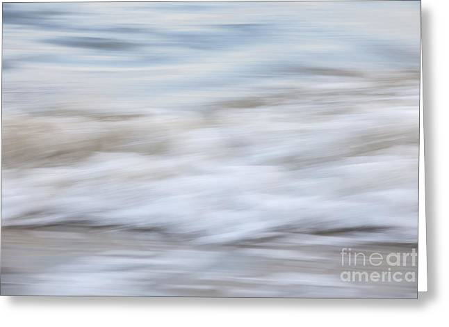 Blurred Motion Greeting Cards - Surf abstract 1 Greeting Card by Elena Elisseeva